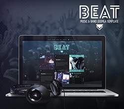 Beat Onepage Music and Band Joomla Template
