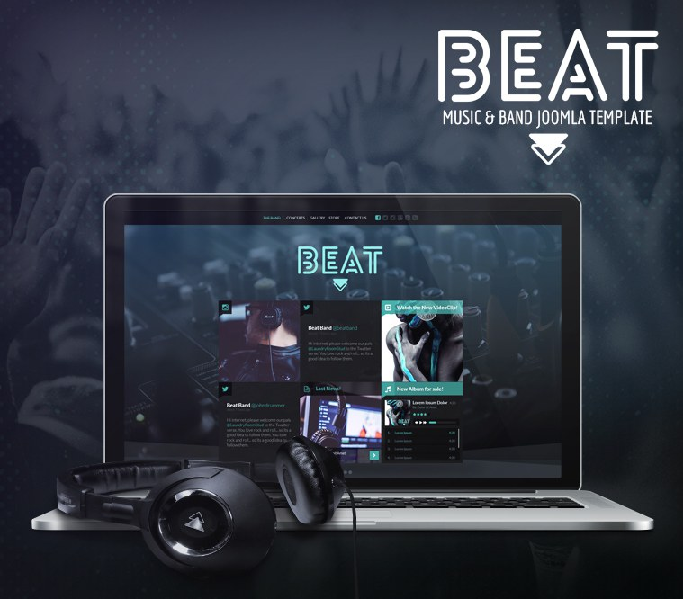 Beat One Page Music & Band Joomla Template