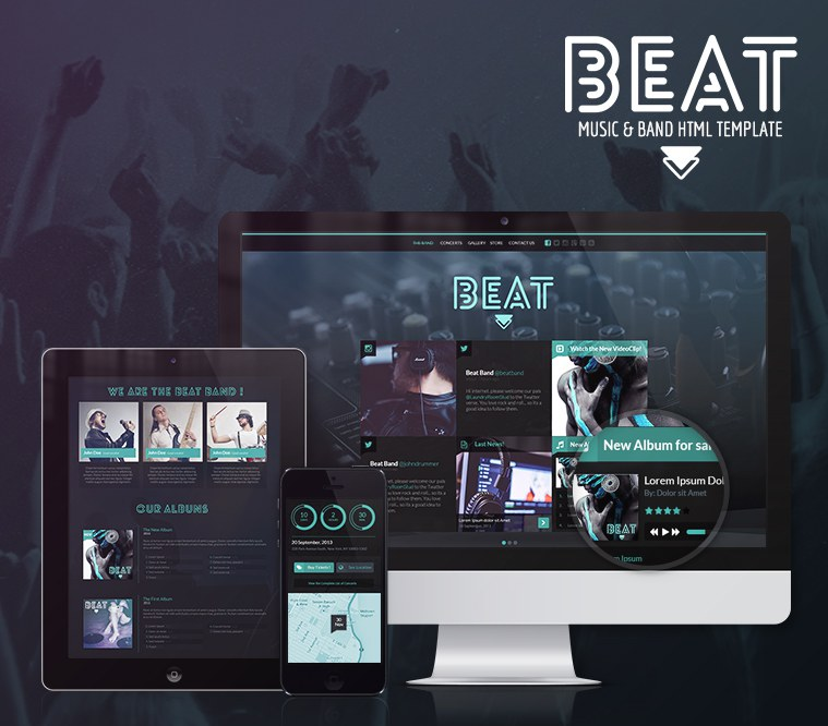 Beat One Page HTML5 Music & Band Template
