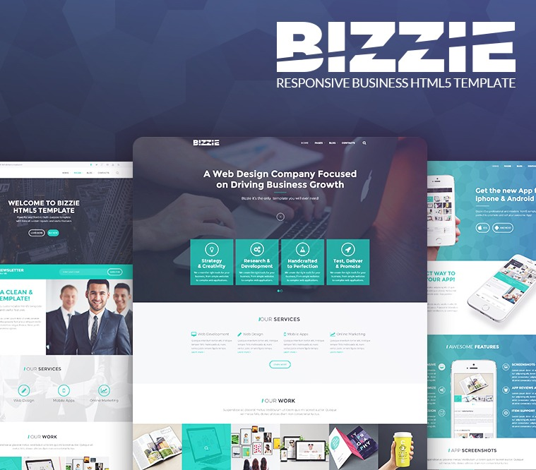 Bizzie Responsive Business HTML5 Template