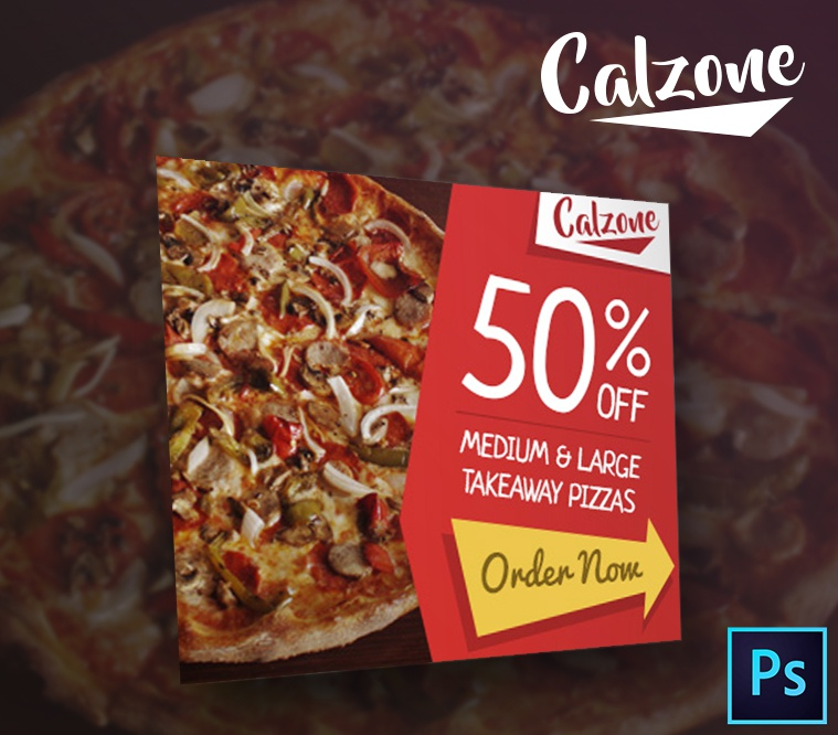 Calzone Restaurant & Food PSD Banner Template