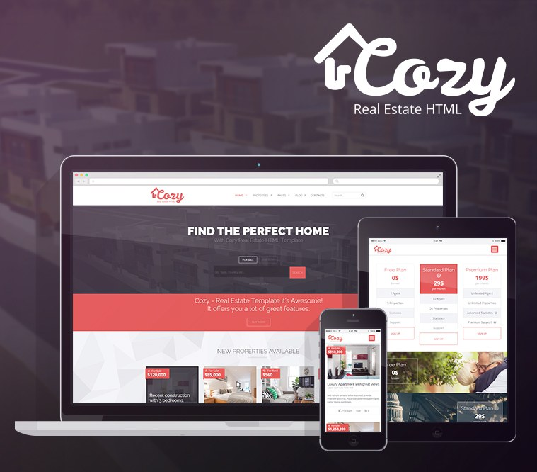 Cozy Responsive Real-Estate HTML Template