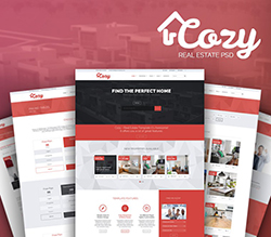 Cozy Real Estate PSD Template