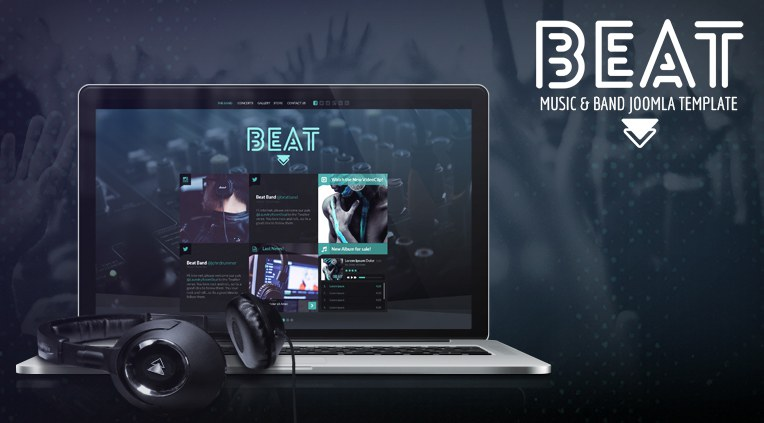 Beat Music and Band Joomla Template