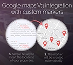 Integrated with google maps with custom markers Thumbnail