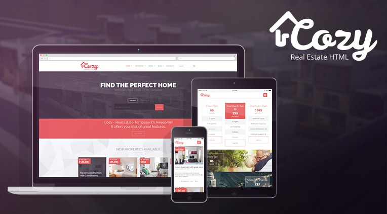 Cozy - Real Estate html5 template