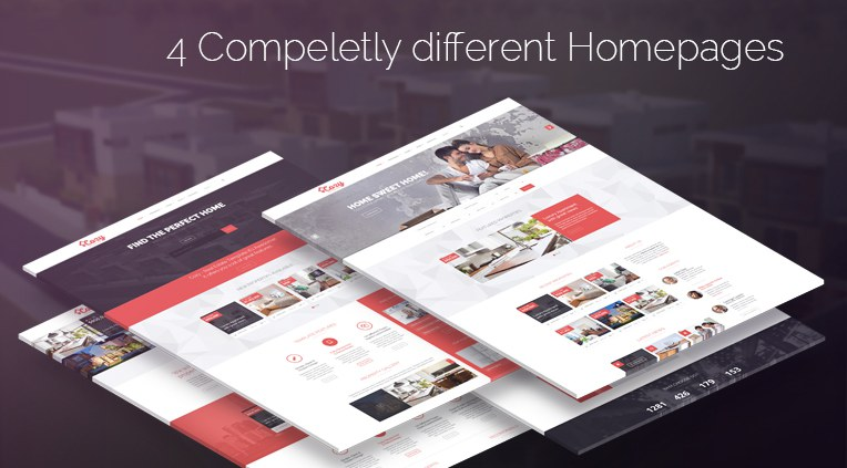 4 completely different homepages