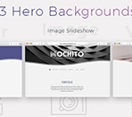 3 different heros - video, image slideshow and color Thumbnail