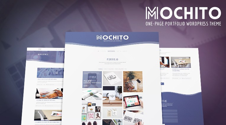 Mochito One-Page Portfolio AJAX WordPress Theme