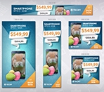 Techy Easter Sales HTML5 Banner Template Thumbnail