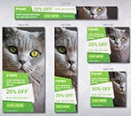 Paws – Pet Store HTML5 Ad Template Thumbnail