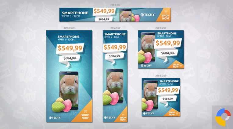 Techy Easter Sales HTML5 Banner Template