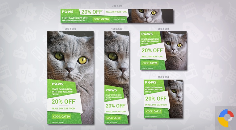 Paws – Pet Store HTML5 Ad Template