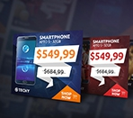 Techy Holiday Sales PSD Banner Template Thumbnail
