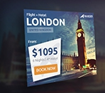 Wander Travel Agency PSD Banner Template Thumbnail
