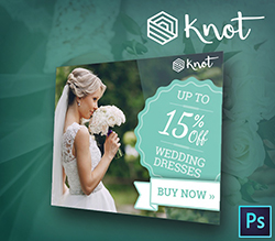 Knot Wedding PSD Banner Template