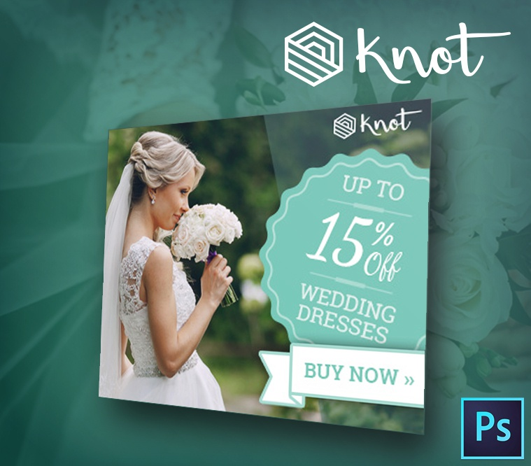 Knot - Wedding PSD Banner Template
