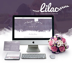 Lilac Responsive One-page HTML5 Wedding Template