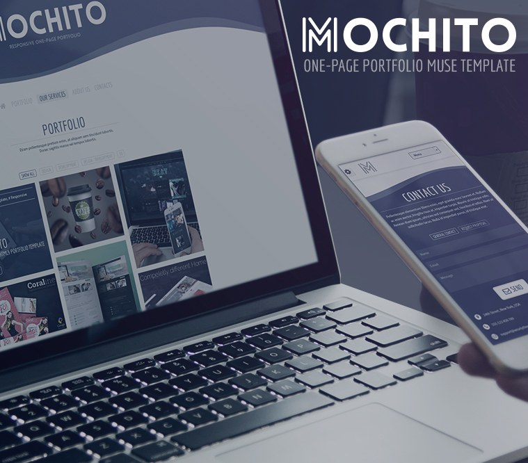 Mochito One-Page Portfolio Muse Template