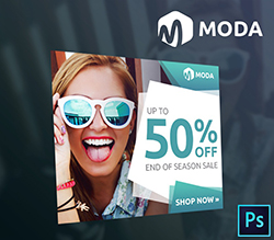 Moda Fashion Sales PSD Banner Template
