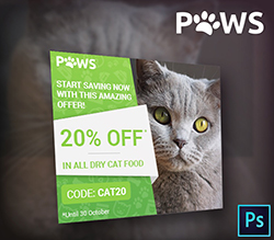Paws Pet Store PSD Banner Template