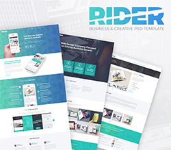 Rider Business PSD template