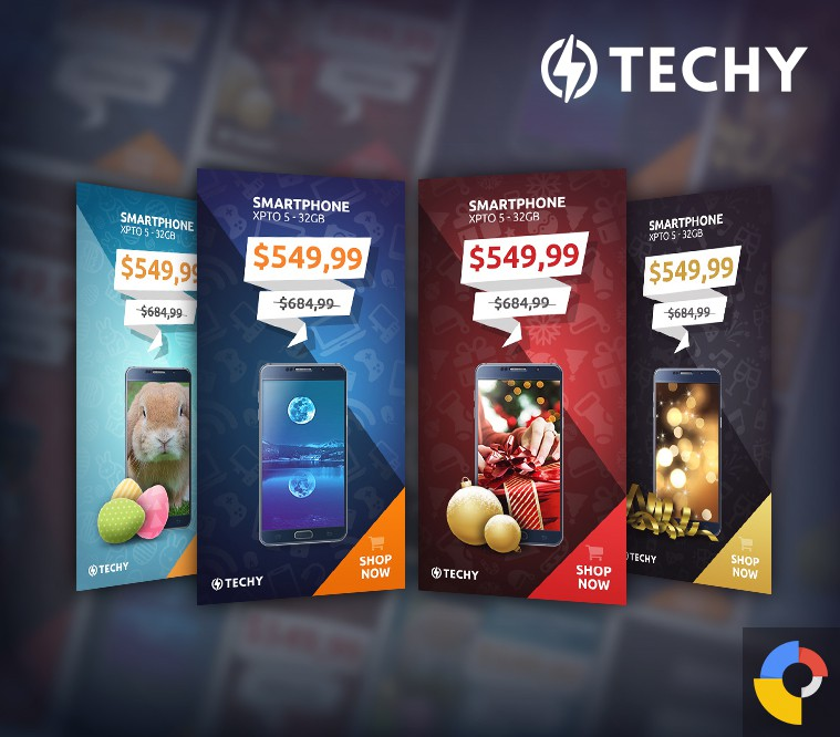Techy Holiday Sales HTML5 Banner Template